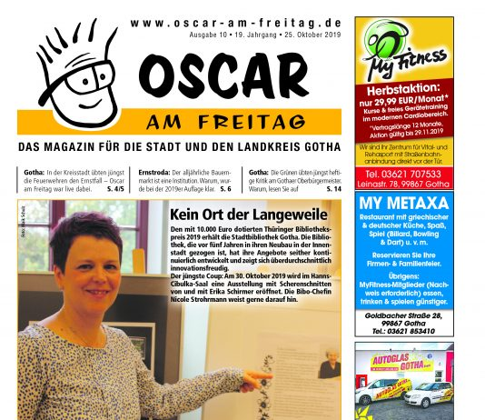 Oscar am Freitag - 25.10.2019