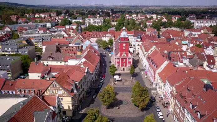 Gotha Zentrum Hauptmarkt Rathaus